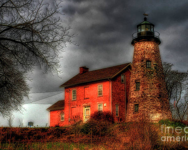 Lighthouse Poster featuring the photograph Charlotte-genesee Lighthouse by Joel Witmeyer