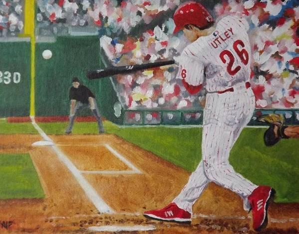 Ballpark Poster featuring the painting Chase by Al Fonollosa