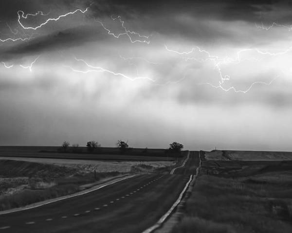 Fe Art Poster featuring the photograph Chasing The Storm - County Rd 95 And Highway 52 - Colorado by James BO Insogna