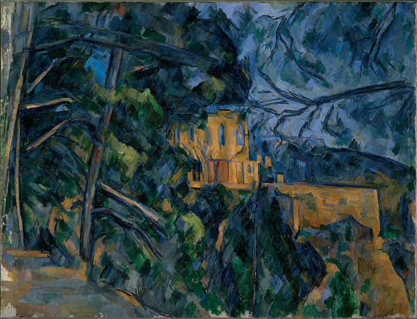 Cezanne Poster featuring the painting Chateau Noir by Extrospection Art