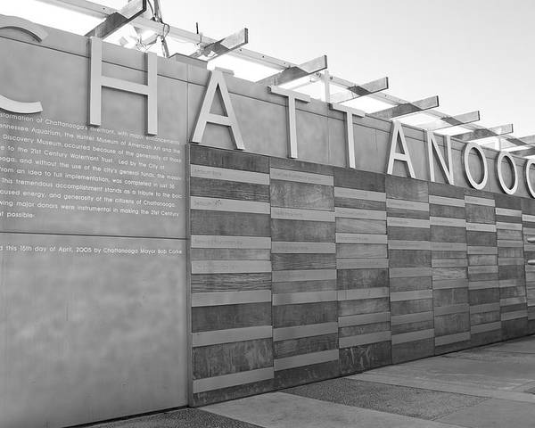 Black And White Poster featuring the photograph Chattanooga 2 by Jessica Roth