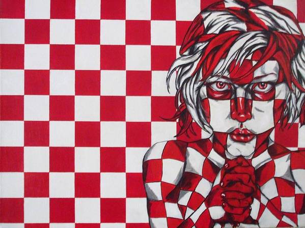 Checkers Poster featuring the painting Check Yo Self by Jeremy McAnally