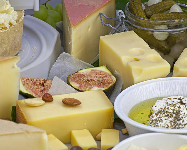 Cheese Poster featuring the photograph Cheese Plate by Joana Kruse