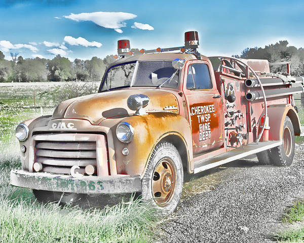 Gmc Poster featuring the photograph Cherokee Twsp Fire Dept Wowc by Kevin Anderson