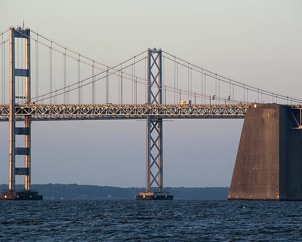 Chesapeake Poster featuring the photograph Chesapeake Bay Bridge - Maryland by Brendan Reals