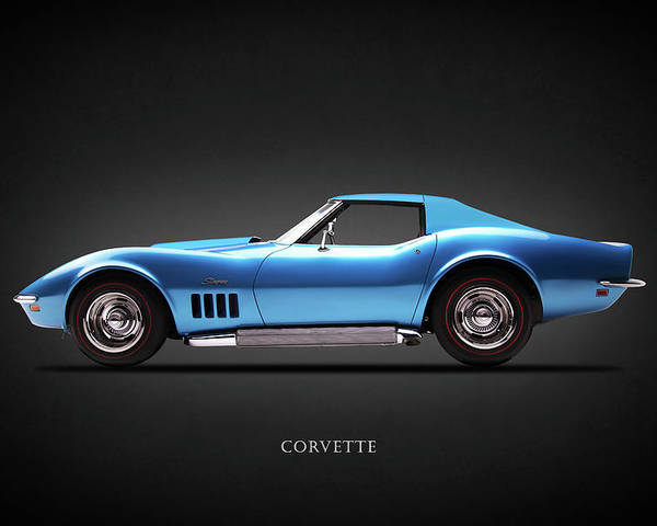 Corvette Stingray 1969 >> Chevrolet Corvette Stingray 1969 Poster