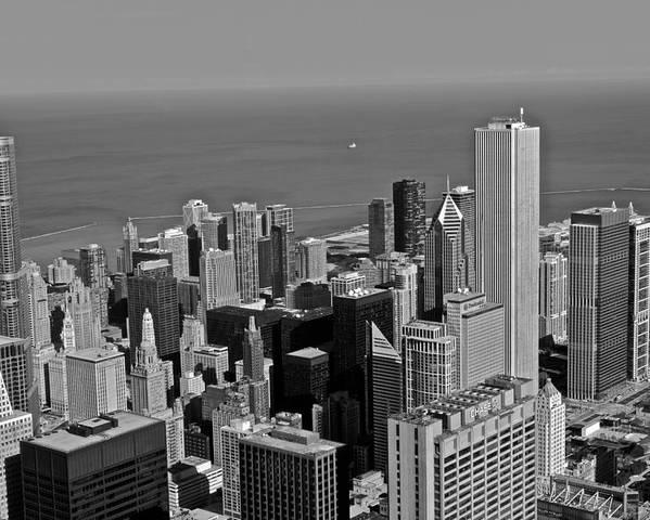 Chicago Poster featuring the photograph Chicago Birdview by Miranda Miranda