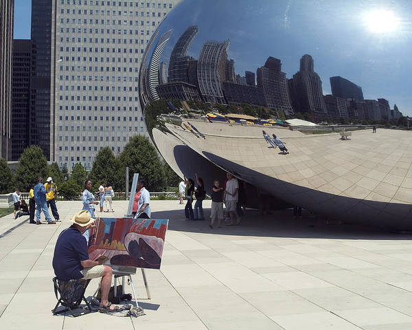 Cloud Gate Poster featuring the photograph Chicago by Charles Ridgway