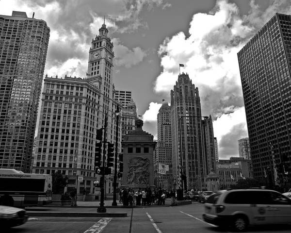 Chicago Poster featuring the photograph Chicago by Miranda Miranda