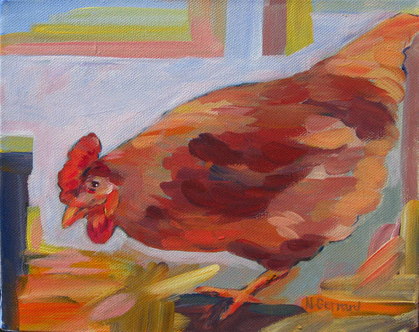 Chicken Poster featuring the painting Chicken Little by Naomi Gerrard