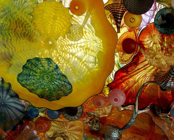Art Poster featuring the photograph Chihully Art Glass by Sonja Anderson