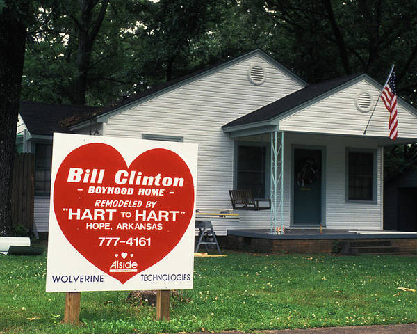 Childhood Poster featuring the photograph Childhood Home Of Bill Clinton by Carl Purcell