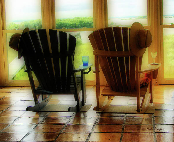 Cedar Key; Rocking Chairs Poster featuring the photograph Chillax by Nada Frazier