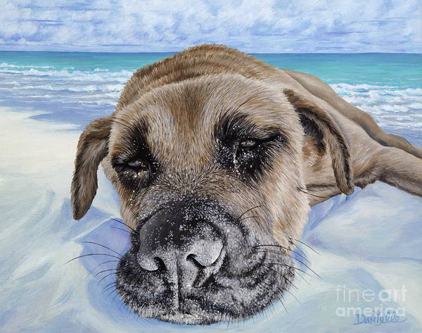 Pet Portrait Poster featuring the painting Chillin In Briland by Danielle Perry