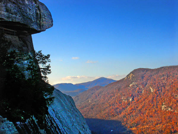 Landscape Poster featuring the photograph Chimney Rock 2 by Steve Karol