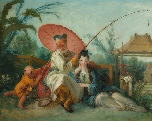 Painting Poster featuring the painting Chinese Motif by Francois Boucher