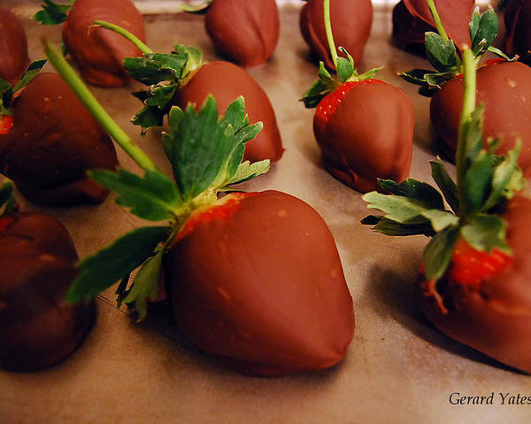 Chocolate Poster featuring the photograph Chocolate Strawberries by Gerard Yates