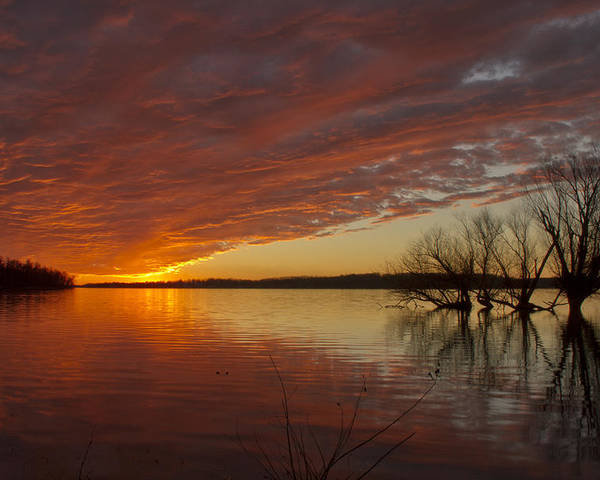 Sunset Poster featuring the photograph Christmas Eve Sunset by Peri Ann Taylor
