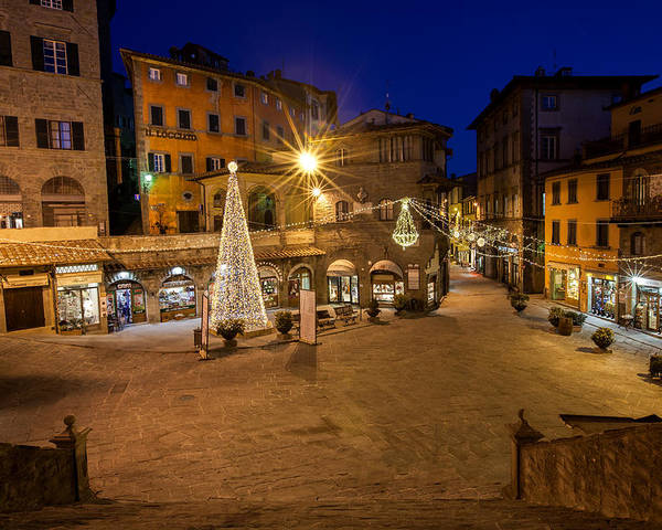 Italy Poster featuring the photograph Christmas In Cortona 5 by Al Hurley