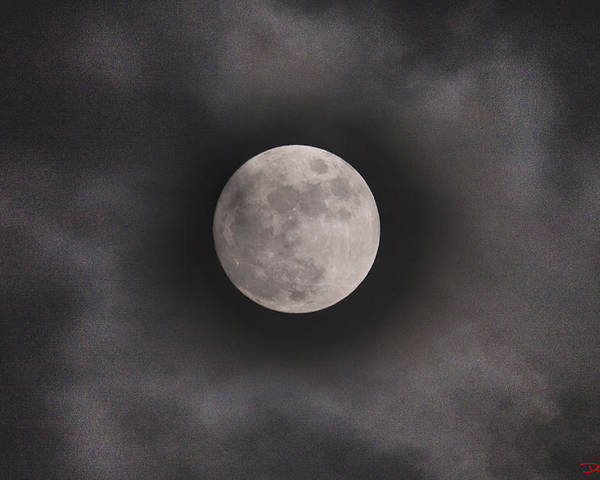 Christmas Moon Poster featuring the photograph Christmas Moon by Domenico Ditanna