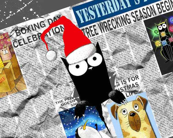 Christmas Poster featuring the drawing Christmas Special by Andrew Hitchen