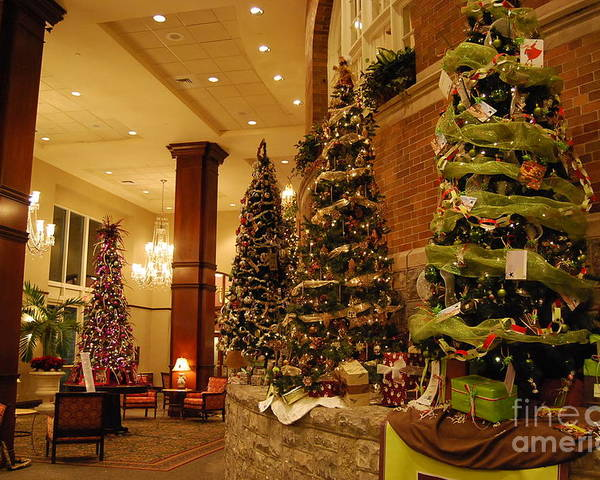Christmas Poster featuring the photograph Christmas Tree by Eric Liller