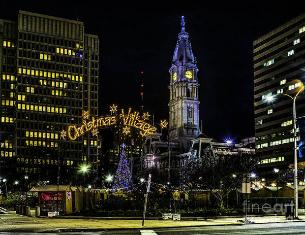 Christmas Poster featuring the photograph Christmas Village - Philadelphia by Nick Zelinsky