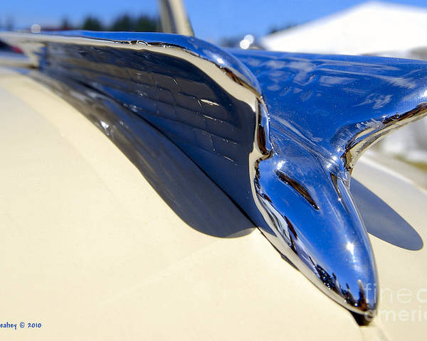 Chrysler Poster featuring the photograph Chrysler New Yorker Deluxe Hood Ornament by Larry Keahey