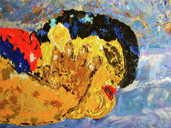 Marwan George Khoury Poster featuring the painting Chubby In Dreamland by Marwan George Khoury