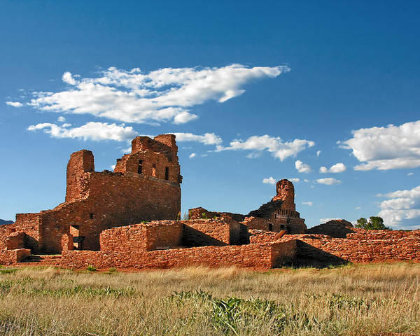 Church Poster featuring the photograph Church Abo - Salinas Pueblo Missions Ruins - New Mexico - National Monument by Christine Till