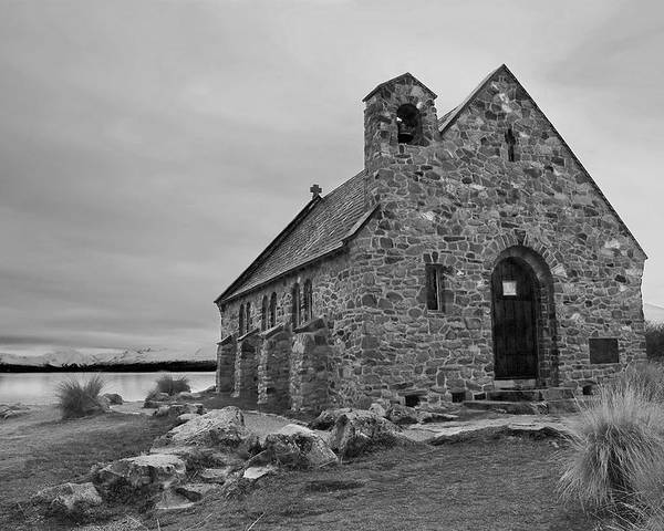 Landscape Poster featuring the photograph Church Of The Good Shepherd by Andrea Cadwallader