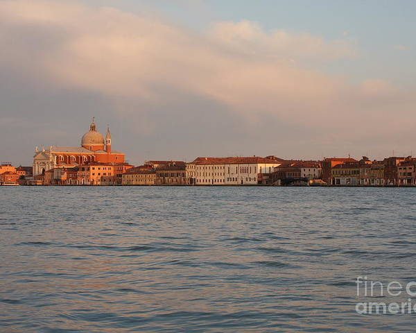 Venice Poster featuring the photograph Church Of The Redentore In Venice Across The Giudecca Canal by Michael Henderson