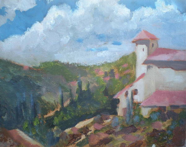 Landscape Off Del Dios Highway Poster featuring the painting Cielo Villa by Bryan Alexander