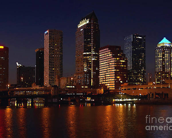 Tampa Florida Poster featuring the photograph Cigar City by David Lee Thompson