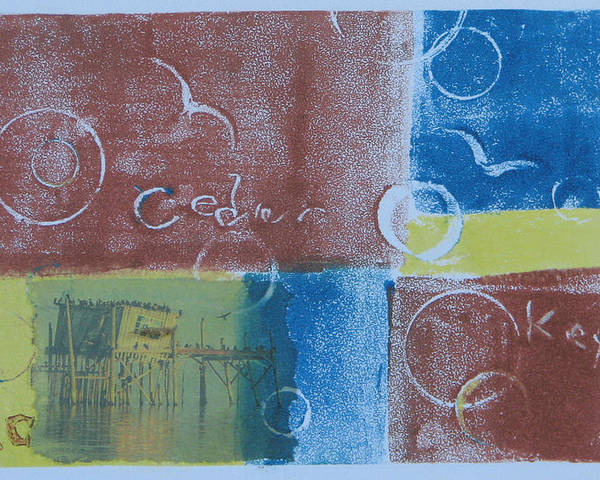 Printmaking Poster featuring the painting Circling The Key by Libby Cagle