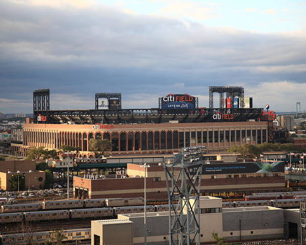 Framed Poster featuring the photograph Citi Field - New York Mets by Frank Romeo