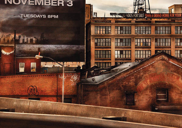 Savad Poster featuring the photograph City - Ny - New York History by Mike Savad
