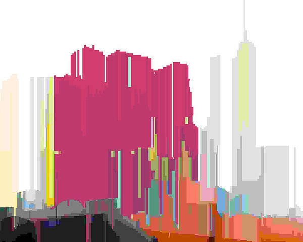 Abstract Poster featuring the digital art City Color 2 by Lyle Crump