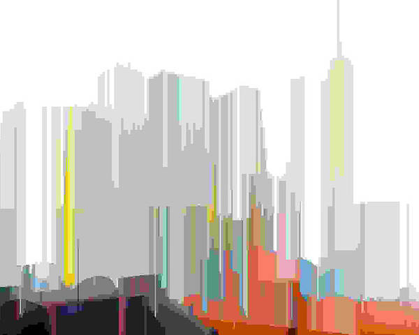 Abstract Poster featuring the digital art City Color by Lyle Crump