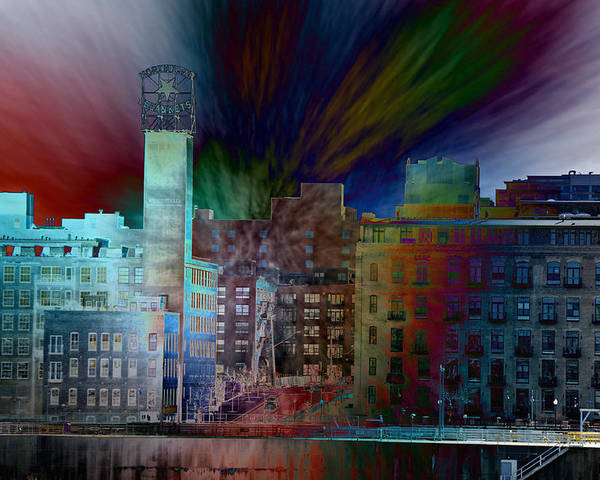 Cityscape Poster featuring the photograph City In Transmission by John Ricker