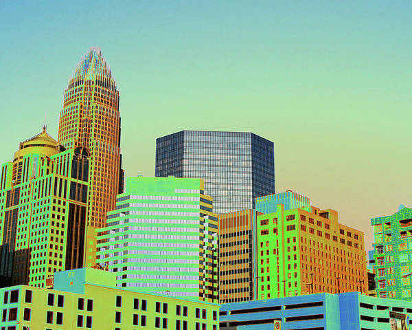 Charlotte Poster featuring the photograph City Of Colors by Karol Livote