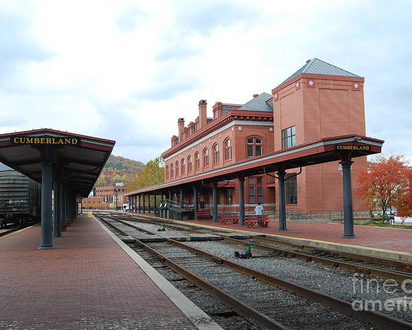 Historic Poster featuring the photograph Cumberland City Station by Eric Liller