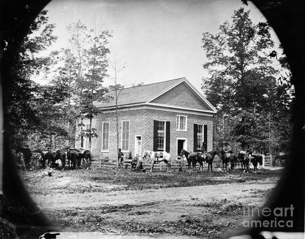1864 Poster featuring the photograph Civil War: Bethel Church by Granger