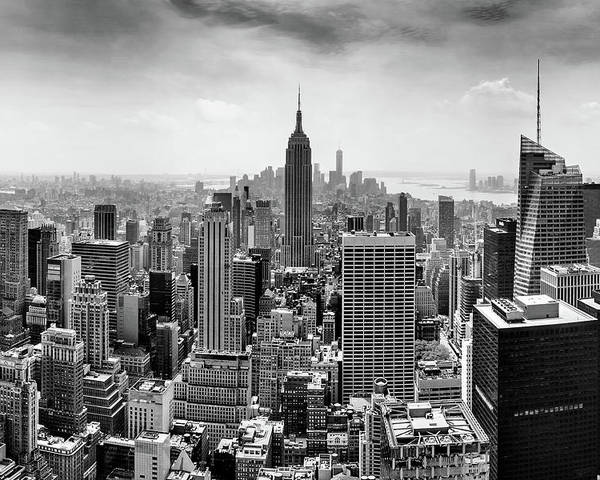 Empire State Building Poster featuring the photograph Classic New York by Az Jackson