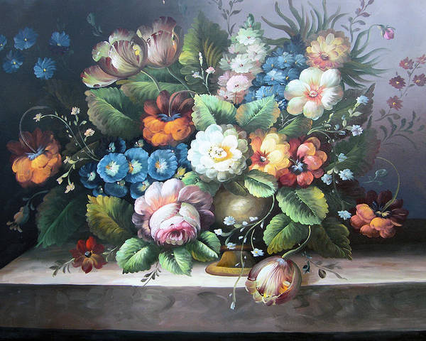 Still Life Poster featuring the painting Classic Style by Imagine Art Works Studio