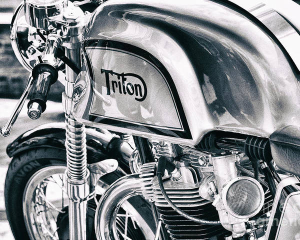 Triton Poster featuring the photograph Classical Triton Cafe Racer by Tim Gainey