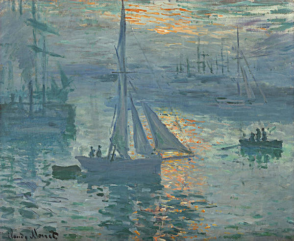 Monet Poster featuring the painting Claude Monet Sunrise by Bishopston Fine Art