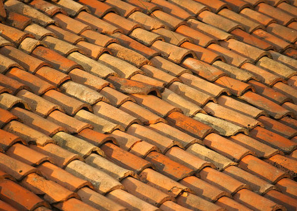 Adobe Poster featuring the photograph Clay Roof Tiles by David Buffington