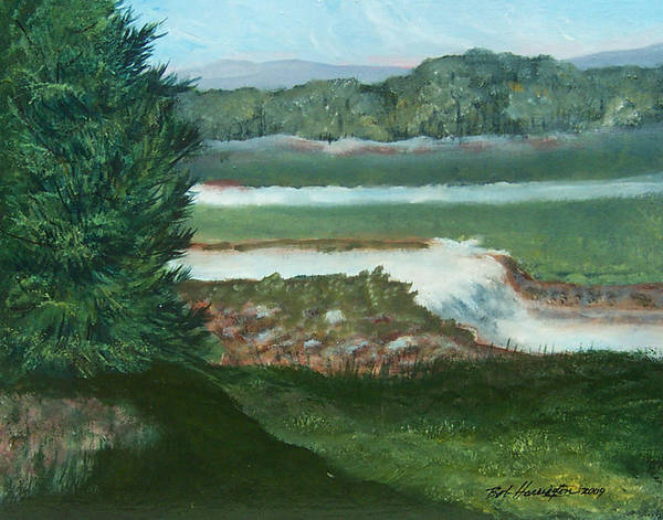 Clear Creek Poster featuring the painting Clear Creek by Robert Harrington