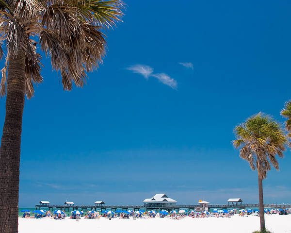 3scape Photos Poster featuring the photograph Clearwater Beach by Adam Romanowicz